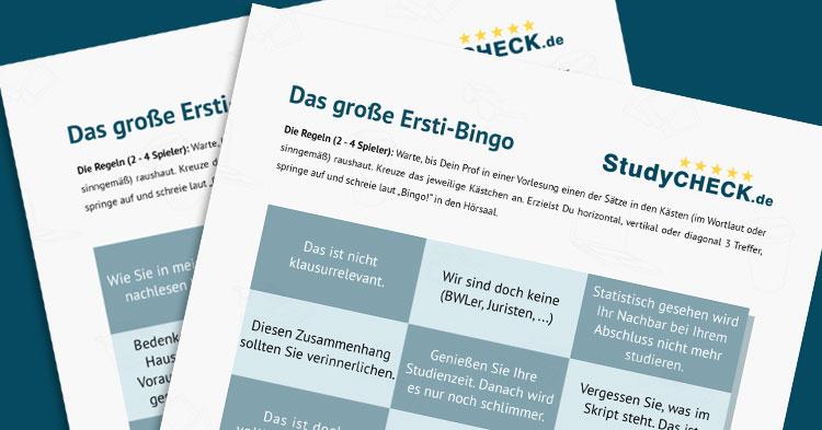 StudyCheck Ersti-Bingo: Rockt selbst die langweiligste Vorlesung