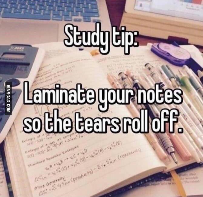 Tränen beim Studieren