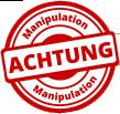 Stempel Achtung Manipulation