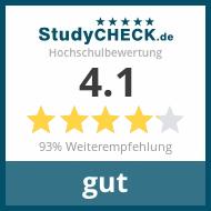 Alle Bewertungen auf StudyCheck.de lesen